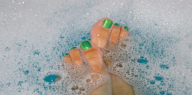 bath water bubbles