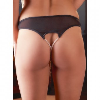 pearl crotchless knickers bondara rear